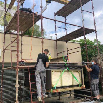 Whirlpool Transport auf das Dachgeschoß